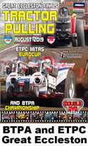 2019 btpa and etpc tractor pulling at great eccleston in august dvd cover and link